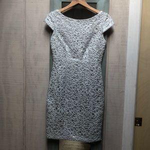 Liliana silver dress.